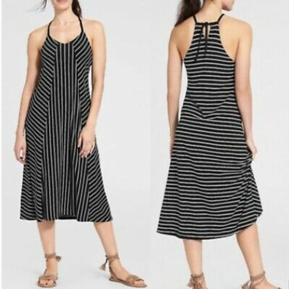 New Women/'s Maternity Clothes Casual Black Striped Dress NWT Stripe Size M